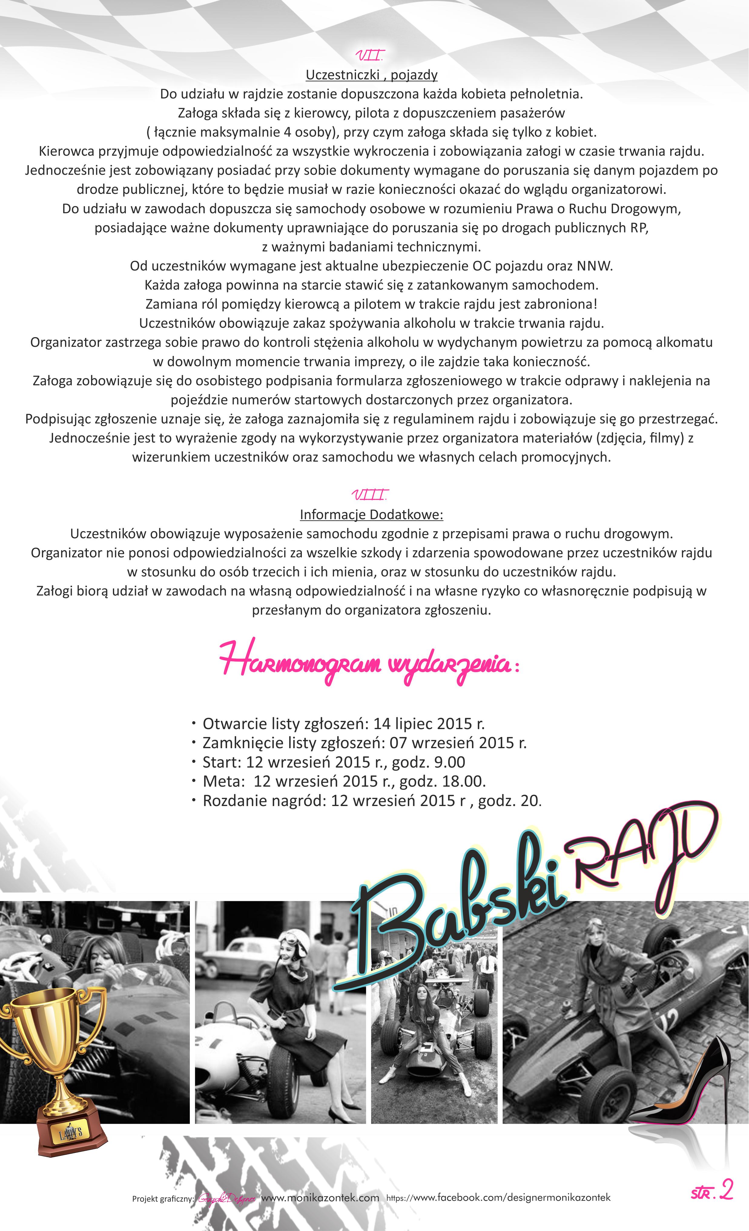 REGULAMIN LADYS TOURstr2